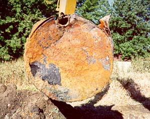 Underground Storage Tank Removal of Failed Tank